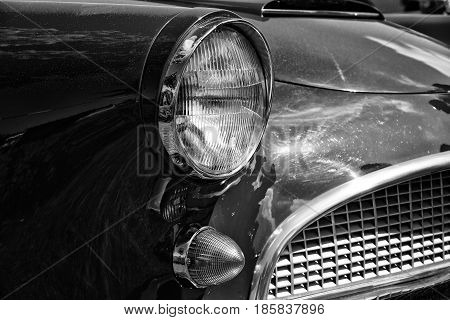 Paaren Im Glien, Germany - May 19: Detail Of A Sports Car Auto Union 1000 Sp, (black And White),