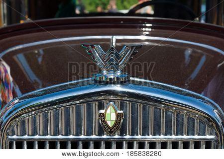 Paaren Im Glien, Germany - May 19: Emblem Car Wanderer,