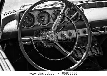 Paaren Im Glien, Germany - May 19: Cab Lincoln Continental Mark Ii, Black And White,