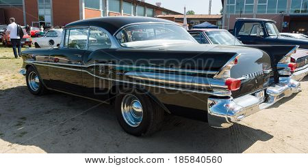 PAAREN IM GLIEN GERMANY - MAY 19: Full-size car Pontiac Star Chief Catalina rear view