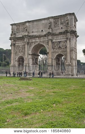 Rome, Roman Forum And Colosseum