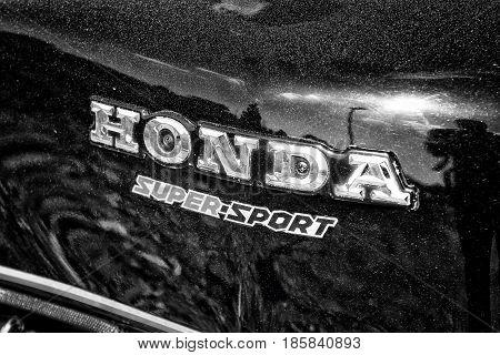 PAAREN IM GLIEN GERMANY - MAY 19: Emblem Superbike Honda CBX black and white