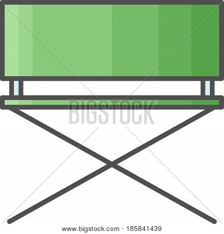Simple artistic and hobby Vector Flat Icon. Hammock chair for painting outside. Flat style icon. 48x48 Pixel Perfect.
