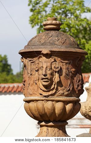Troja Palace in sunny day, mythical vase ,Prague, Czech Republic, Europe