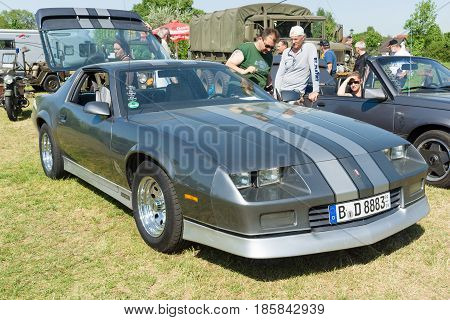PAAREN IM GLIEN GERMANY - MAY 19: A sports car Chevrolet Camaro Z28 (third generation)