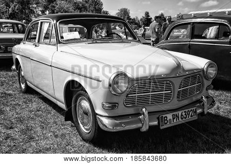 Paaren Im Glien, Germany - May 19: Large Family Car, 4-door Sedan, Volvo Amazon, (black And White),