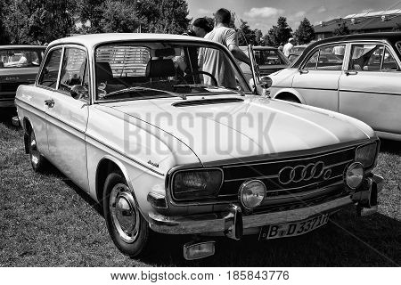 Paaren Im Glien, Germany - May 19: Compact Executive Car Audi F103 (audi 60), Black And White, The O