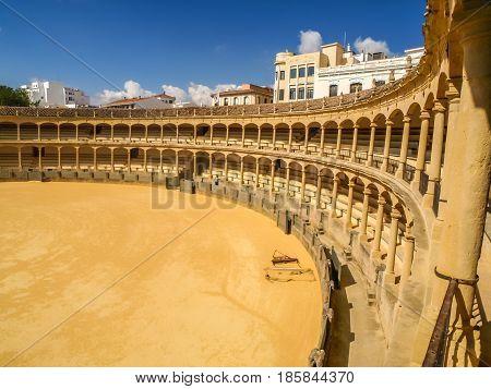 view of arena de toros Ronda, Andalusia