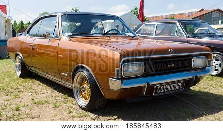 Paaren Im Glien, Germany - May 19: Executive Car Opel Commodore A, The Oldtimer Show In Mafz, May 19