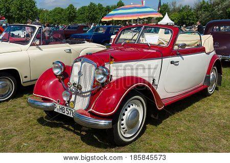 Paaren Im Glien, Germany - May 19: Two-door Convertible Dkw F8,