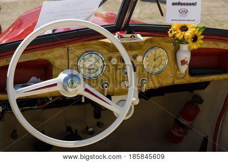 Paaren Im Glien, Germany - May 19: Cab Two-door Convertible Dkw F8,