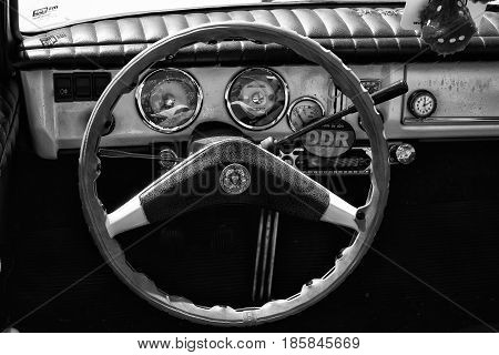 Paaren Im Glien, Germany - May 19: Cab Hardtop Coupe, Wartburg 312-300 Ht (black And White),