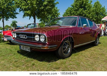 Paaren Im Glien, Germany - May 19: Car Audi 100 Coupe S,