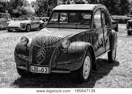 PAAREN IM GLIEN GERMANY - MAY 19: Car Citroen 2CV (black and white)