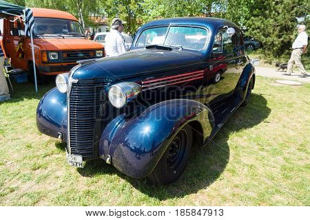 Paaren Im Glien, Germany - May 19: The Chevrolet Master Deluxe Coupe 1938. The Chevrolet Master And