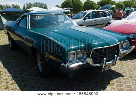 Paaren Im Glien, Germany - May 19: Ford Ranchero 500 (sixth Generation), 1972. The Ford Ranchero Was