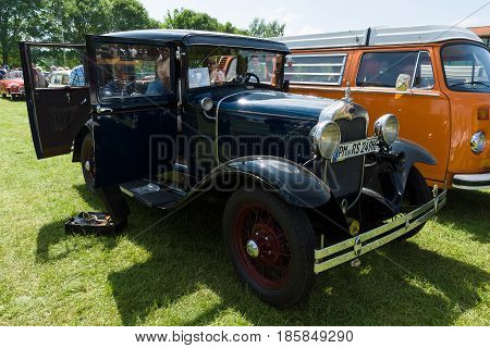 Paaren Im Glien, Germany - May 19: The Ford Model A Town Car Sedan Of 1928-1931,