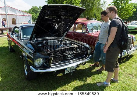 Paaren Im Glien, Germany - May 19: The Second-generation Ford Mustang Is A Pony Car That Was Manufac