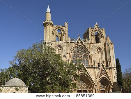 Old church in Famagusta town with blue sky in background picture from Cyprus.