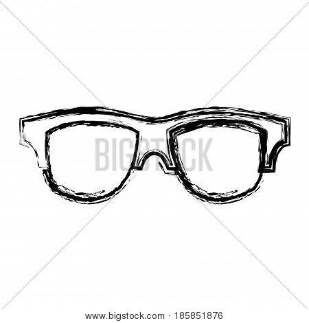 glasses accessory icon over white background. vector illustration