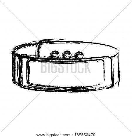 smart watch icon over white background. vector illustration