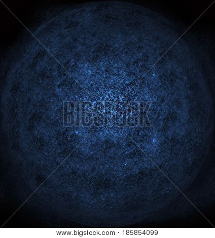 Planetary dust in empty dark space (blue)