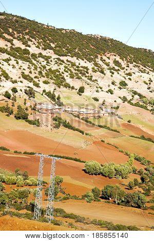 Dades Valley Atlas Moroco Africa Electrical Line