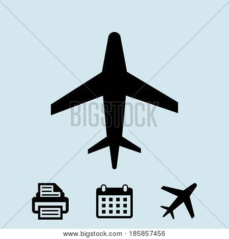 aircraft icon stock vector illustration flat design