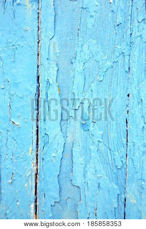 Dirty   Paint  The   Wood Door And Rusty Nail