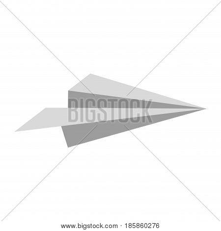 paper plane icon over white background. vector illustration