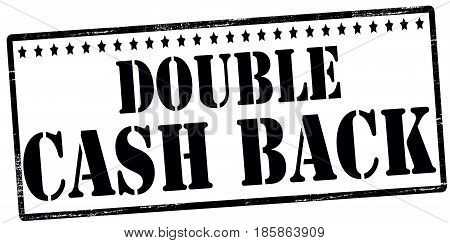 Stamp with text double cash back inside vector illustration