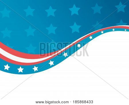 Abstract USA flag in style vector illustration