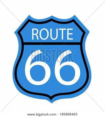 Route 66 sign illustration on white background