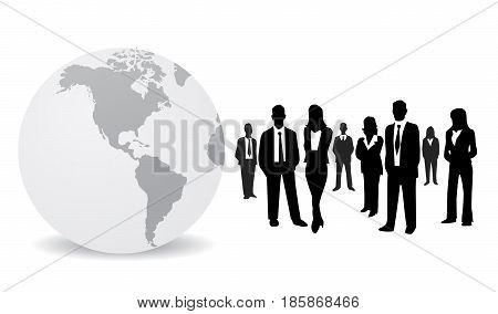 Business people illustration on white background art