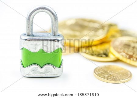 Gold coins with lock, need to keep physical gold under lock