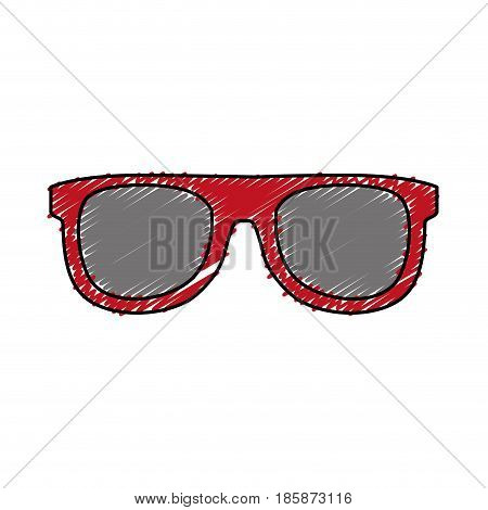 sunglasses icon over white background. vector illustration
