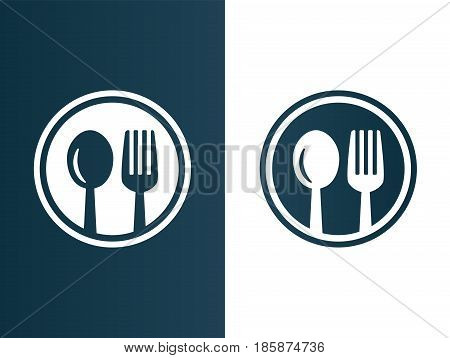 isolated vector illustration Restaurant spoon and fork logo set icon