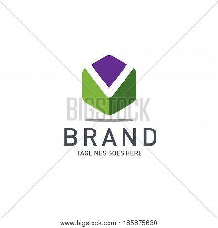 Best letter M logo octagonal concept, Letter M strong and creative logo concept, creative letter M concept design