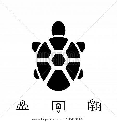 turtle icon stock vector illustration flat design