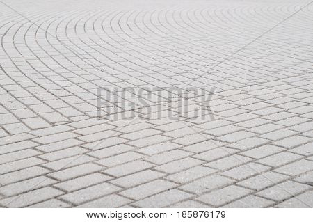 Background, Texture Of A City Paving Stone On The Whole Frame. Horizontal Frame