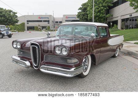 Edsel Ranchero On Display