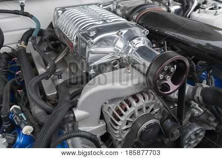 Ford Mustang Fifth Generation Engine On Display