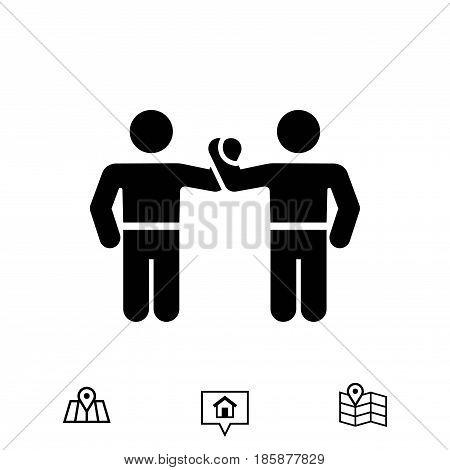 greeting icon stock vector illustration flat design