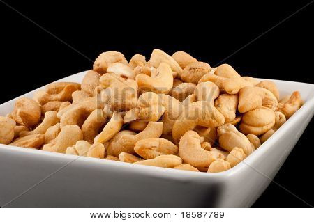 Salted Cashews In A Bowl