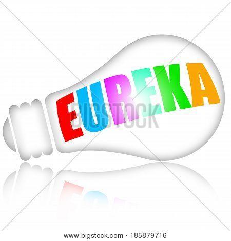 Eureka bright genius idea with electric lightbulb