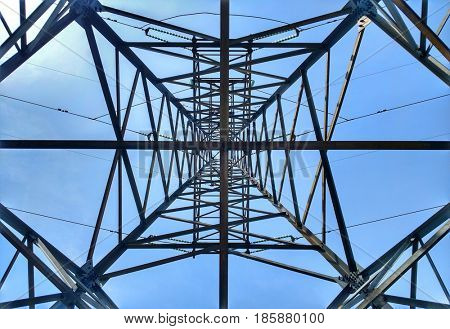 Abstract  High voltage power pole