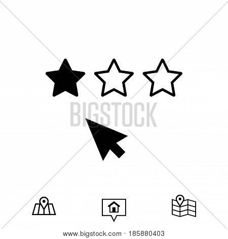 rating icon stock vector illustration flat design