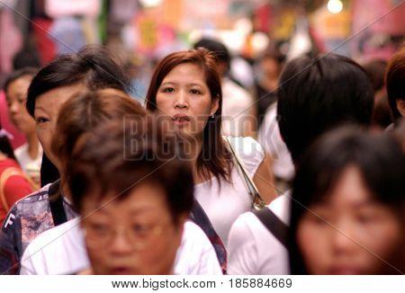 Chinese Women In Hong Kong, China