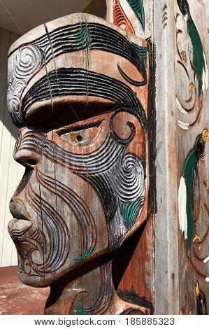 Figure Of A Maori Male Face