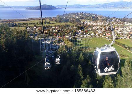 Skyline Gondola Cableway Rotorua New Zealand